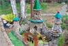 Замок в саду своими руками фото